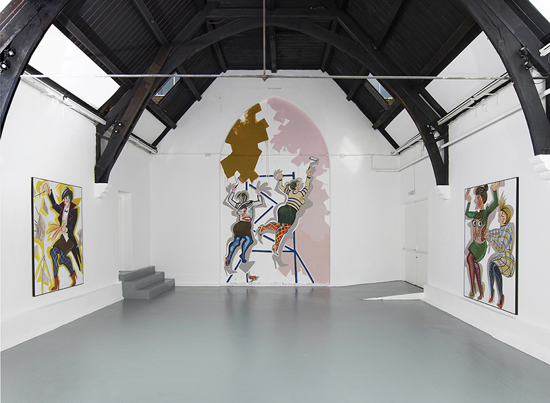Ella Kruglyanskaya, Installation View, Studio Voltaire. Commissioned by Studio Voltaire for How to work together a shared project with Chisenhale Gallery and The Showroom. Courtesy of the artist and Gavin Brown's enterprise, New York.