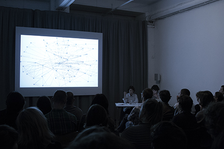 Céline Condorelli and Avery F. Gordon in conversation at Chisenhale Gallery. Photo: Manuela Barczewski