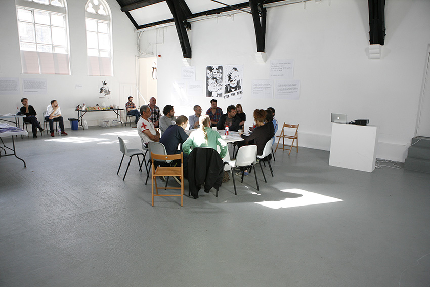 The inaugural meeting of The Nervemeter Council, 31 August 2013 at Studio Voltaire. Photo Ella Webber.