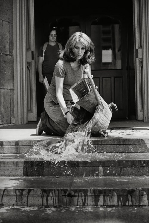 Mierle Laderman Ukeles, Washing, Tracks, Maintenance – Outside, 1973. Photo: Mierle Laderman Ukeles/Ronald Feldman Fine Arts, New York